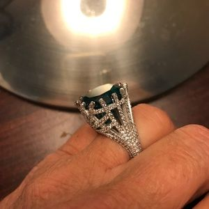 Jewelry - The Big Bold 925 Sterling Silver Tourmaline Ring